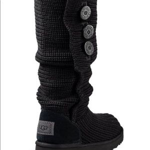DONT BUY- uggs black classic cardy knit boots 7